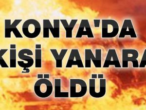 Konya Seydişehir'de Feci Trafik Kazası!..Minibüs Yandı, 5 Kişi Yanarak Öldü!..