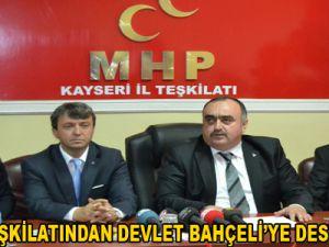 MHP İL TEŞKİLATINDAN DEVLET BAHÇELİ'YE DESTEK SÖZÜ