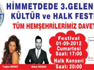 Himmetdede 3.Geleneksel Kültür ve Halk Festivali: 01 Eylül 2012 Cumartesi