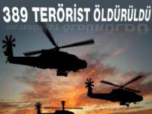 Genelkurmay, '389 terörist öldürüldü' dedi
