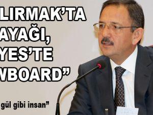 """""""KIZILIRMAK'TA SU KAYAĞI, ERCİYES'TE SNOWBOARD"""""""