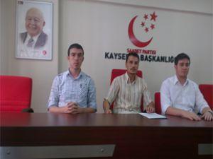 SAADET PARTİSİ KAYSERİ İL GENÇLİK KOLLARI BASIN TOPLANTISI
