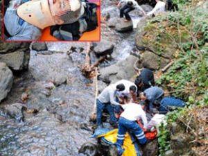 Yahyalı'da Şelaleyi Gezen Şahıs 15 Metreden Düştü
