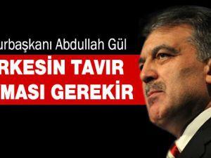 Cumhurbaşkanı Abdullah Gül'den Gaziantep'te Açıklama