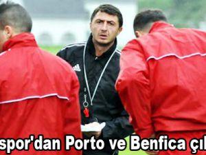 Kayserispor'dan Porto ve Benfica çıkarması