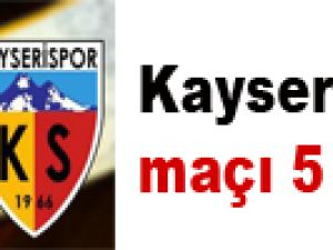 Kayseri-Bursa maçı 5 TL
