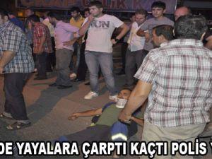 KAYSERİ'DE YAYALARA ÇARPTI KAÇTI POLİS YAKALADI