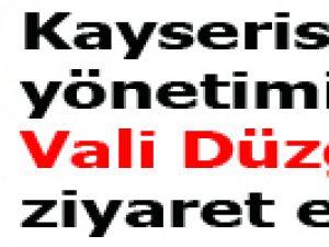 Kayserispor yönetimi vali Düzgün'ü ziyaret etti