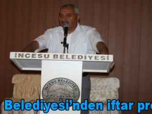 İncesu Belediyesi'nden iftar programı
