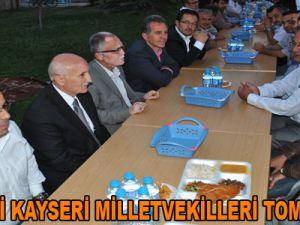 AK PARTİ KAYSERİ MİLLETVEKİLLERİ TOMARZA'DA