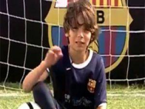İki ayağı olmayan mucize çocuk Barcelona'da Video