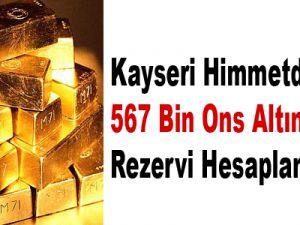 Kayseri Himmetdede'de 567 Bin Ons Altın Rezervi Hesaplandı