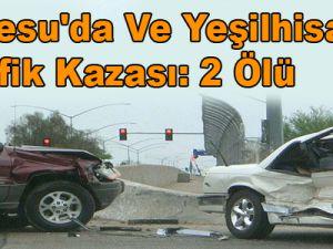 İncesu'da Ve Yeşilhisar'da Trafik Kazası: 2 Ölü