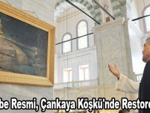 Asırlık Kabe Resmi, Çankaya Köşkü'nde Restore Edilecek