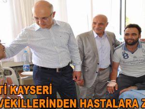 AK PARTİ KAYSERİ MİLLETVEKİLLERİNDEN HASTALARA ZİYARET