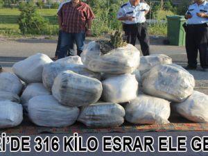 Kayseri'de 316 Kilo Esrar Ele Geçirildi
