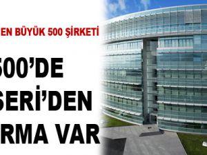 İLK 500'DE KAYSERİ'DEN 11 FİRMA VAR
