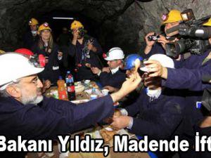 Enerji Bakanı Yıldız, madende iftar açtı / Video
