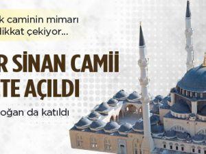 Mimar Sinan Camii ibadete açıldı video