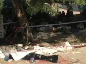 Otobüs bahçeye uçtu: 1 ölü 6 yaralı-video