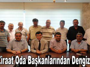 Kayseri Ziraat Oda Başkanlarından Dengiz'e ziyaret