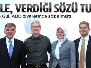 Apple, Gül'e verdiği sözü 'Türkçe' sözünü tuttu