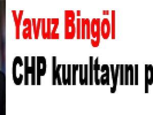 Yavuz Bingöl CHP kurultayını protesto etti