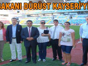 KKTC BAKANI DÜRÜST KAYSERİ'Yİ GEZDİ