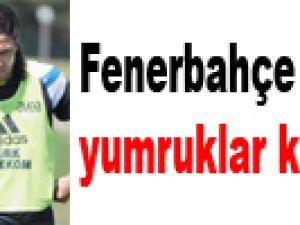 Fenerbahçe idmanında yumruklar konuştu !