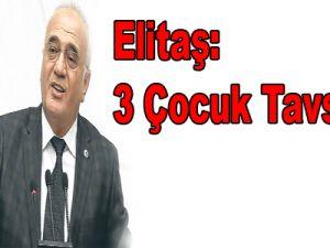 Elitaş: 3 Çocuk Tavsiyesi,türkiye'nin Gelişmiş Ülkelerin Durumunu Yaşamaması İçin