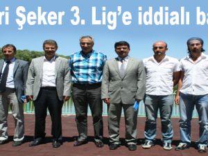 Kayseri Şeker 3. Lig'e iddialı başlıyor
