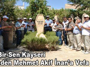 Eğitim-Bir-Sen Kayseri Şubesinden Mehmet Akif İnan'a Vefa Ziyareti