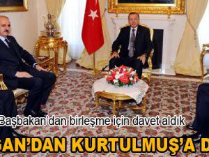 Erdoğan'dan Kurtulmuş'a davet! Video