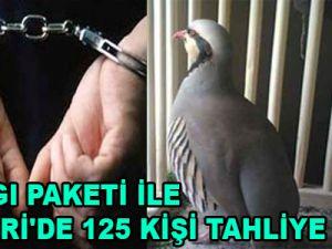 3.YARGI PAKETİ İLE KAYSERİ'DE 125 KİŞİ TAHLİYE EDİLDİ