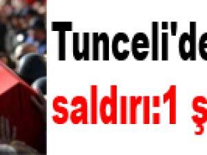 Tunceli'de mayınlı saldırı:1 şehit