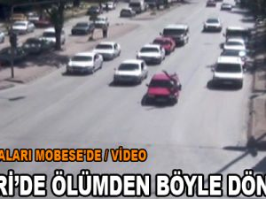 KAYSERİ'DEKİ TRAFİK KAZALARI MOBESE'DE / VİDEO