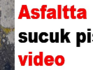 Asfaltta 'sucuk' pişirdiler-video