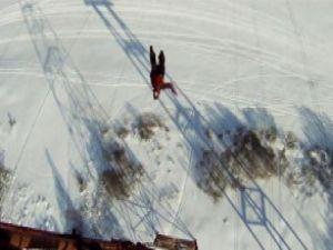 120 metreden yere çakıldı ama ölmedi! Video
