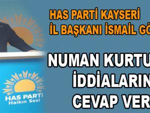 Has Parti İl Başkanı İsmail Gökşen Numan Kutulmuş İddialarını Cevapladı