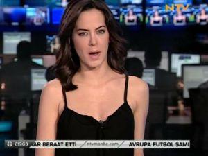 NTV ekranını yaz ateşi bastı / Video