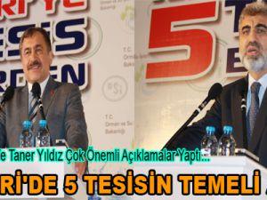 KAYSERİ'DE 5 TESİSİN TEMELİ ATILDI