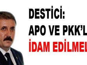 Destici: Apo ve PKK'lılar idam edilmeli