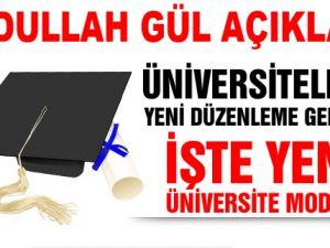 Yeni Üniversite modeli böyle olacak