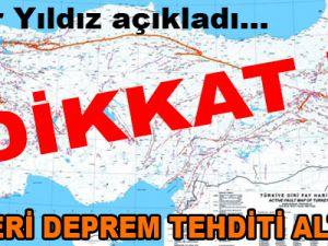 KAYSERİ DEPREM TEHDİTİ ALTINDA