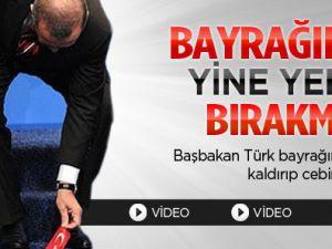 Başbakan Türk Bayrağını Yine Yerde Bırakmadı / Video