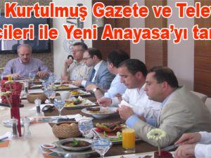Numan Kurtulmuş Gazete ve Televizyon temsilcileri ile Yeni Anayasa'yı tartıştı