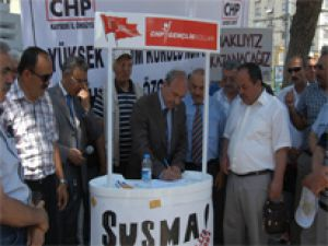 CHP KAYSERİ TUTUKLU VEKİLLER İÇİN İMZA KAMPANYASI BAŞLATIYOR
