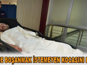 KAYSERİ'DE BOŞANMAK İSTEMEYEN KOCASINI BIÇAKLADI