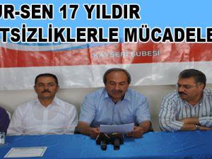 """""""MEMUR-SEN 17 YILDIR ADALETSİZLİKLERLE MÜCADELE ETTİ"""""""