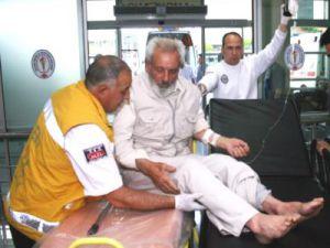 Kayseri'de Mutfakta Doğalgaz Patladı Yaşlı Çift Hafif Yaralandı